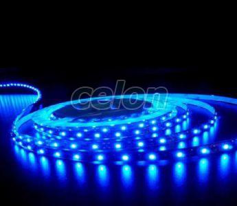 Beltéri led szalag, kék, öntapadós, 60Led/m, 12 V DC, 4.8W/m IP20 Lumen LUM30-34104 Lumen - 5 m, Világítástechnika, LED szalagok, LED szalagok, Lumen