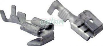 Fişă+mufă glisantă neizolată, cupru electrolitic stanat - 6,3x0,8mm, 1-2,5mm2 CSE - Tracon, Materiale si Echipamente Electrice, Elemente de conexiune si auxiliare, Fise si mufe glisante izolate si neizolate, Fişe şi mufe glisante neizolate, Fişe glisante cu mufă, Tracon Electric