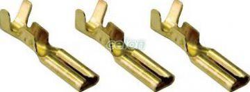"""Mufă glisantă neizolată, alamă - 2,8x0,5mm, 0,5-1mm2 CSH3 - Tracon, Materiale si Echipamente Electrice, Elemente de conexiune si auxiliare, Fise si mufe glisante izolate si neizolate, Fişe şi mufe glisante neizolate, Fişe glisante tip """"mamă"""", Tracon Electric"""