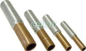 Mufă neizolată cupru-aluminiu (Cu-Al) - 35/50mm2, (d1=8,5mm, d2=10mm) RT3550 - Tracon, Materiale si Echipamente Electrice, Elemente de conexiune si auxiliare, Papuci si mufe izolate si neizolate, Papuci şi mufe neizolate, Mufe neizolate Cu-Al, Tracon Electric