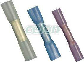 Mufă,izolaţie termocontractabilă,cupru electrolitic,albastru - 2,5mm2, (L=36,6mm, d1=2,4mm), PO ZSTHK - Tracon, Materiale si Echipamente Electrice, Elemente de conexiune si auxiliare, Papuci si mufe izolate si neizolate, Papuci şi mufe izolate, Mufe cu izolaţie termocontractibilă, Tracon Electric
