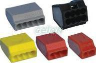 Clemă de legături fără şurub, roşu - 2x(0,75-2,5mm2, 450V, max. 16A TRC252 - Tracon, Materiale si Echipamente Electrice, Elemente de conexiune si auxiliare, Conexiuni, cleme şir, Cleme de legătură fără şurub, Tracon Electric