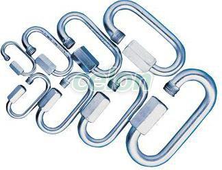 Carabină din oţel, cu şurub - d=8mm, 3100N CSKARA8 - Tracon, Materiale si Echipamente Electrice, Elemente de conexiune si auxiliare, Elemente de Fixare, Cleme şi întinzătoare metalice, Carabine cu şurub, Tracon Electric