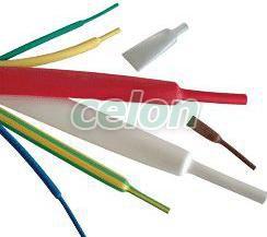 Tub termocontractabil subţire, contracţie 2:1, verde-galben - 3,2/1,6mm, POLIOLEFIN ZS032ZS - Tracon, Materiale si Echipamente Electrice, Materiale termocontractabile, Tuburi termocontractabile, Tuburi termocontractabile cu perete subţire 2:1, Tracon Electric