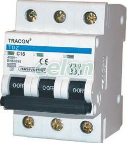 Siguranţă automată, 3 poli, curba caracteristică C - 32A, 6kA TDZ-3C-32 - Tracon, Aparataje modulare, Sigurante automate, Sigurante tripolare 3P, Tracon Electric