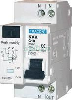 Disjunctor cu protecţie diferenţială, 2P, 2 module, curba B - 25A, 30mA, 3kA, AC KVKB-2503 - Tracon, Aparataje, Protectie diferentiala, Disjunctoare cu protecţie diferenţială, Tracon Electric