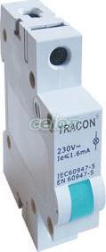 Lampă de semnalizare modulară cu LED, verde - 220V DC SLJL-DC220-Z - Tracon, Aparataje modulare, Lampi de semnalizare, Tracon Electric