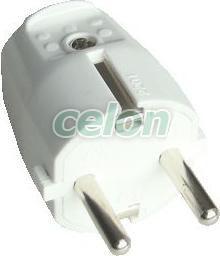 Szerelhető csatlakozó dugó, egyenes csatlakozással - 1xSHUKO, 250V, max.10/16A TCSD - Tracon, Ház és Kert, Kábeldobos, univerzális hosszabbítók, Dugvillák, Tracon Electric