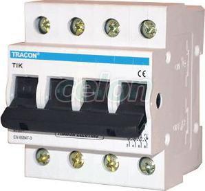 Întrerupător general - 4P, 80A TIK4-80 - Tracon, Aparataje, Întrerupătoare generale manuale, Tracon Electric