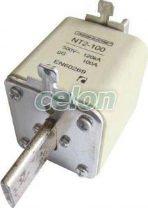 Siguranţă fuzibilă MPR - 500V AC, 125A, 2, 120kA, gG NT2-125 - Tracon, Materiale si Echipamente Electrice, MPR-uri, sigurante ceramice şi accesorii, Siguranţe Mpr, Tracon Electric