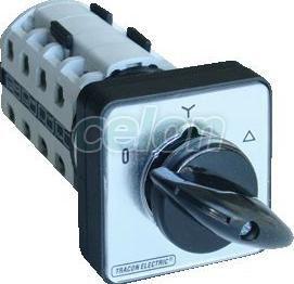 Comutator stea-triunghi pentru motor - 400V, 50Hz, 160A, 15kW, 88x88mm TKM-16C - Tracon, Automatizari Industriale, Separatoare de sarcina, Întrerupătoare manuale, Întrerupătoare motoare, Tracon Electric