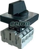 Szakaszoló kapcsoló - 400V, 50Hz, 20A, 3P, 5,5kW, 64x64mm TS-203 - Tracon, Automatizálás és vezérlés, szakaszolókapcsolók és átkapcsoló rendszerek, Ipari szakaszolókapcsolók, Szakaszoló kapcsoló, Tracon Electric