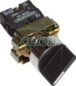 Karos kapcsoló, fémalap, kétállású, rugóvissza - 1xNO, 3A/230V AC, IP42 NYBD41KST - Tracon, Automatizálás és vezérlés, Müködtető- és jelzőkészülékek, Fémalapra szerelt nyomógombok, kapcsolók, jelzőlámpák Ø22, Fémlapra szerelt választókapcsolók Ø22, Tracon Electric