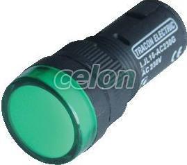 LED-es jelzőlámpa, zöld - 24V AC/DC, d=16mm LJL16-GC - Tracon, Automatizálás és vezérlés, Müködtető- és jelzőkészülékek, Műanyag vázas nyomógombok, kapcsolók, jelzőlámpák, Műanyag öntöttházas jelzőlámpák, Tracon Electric