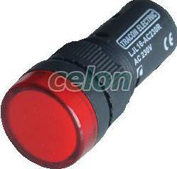 LED-es jelzőlámpa, piros - 24V AC/DC, d=16mm LJL16-RC - Tracon, Automatizálás és vezérlés, Müködtető- és jelzőkészülékek, Műanyag vázas nyomógombok, kapcsolók, jelzőlámpák, Műanyag öntöttházas jelzőlámpák, Tracon Electric