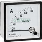 Analóg váltakozó áramú ampermérő közvetlen méréshez - 96x96mm, 10A AC ACAM96-10 - Tracon, Moduláris készülékek, Mérőműszerek, Fogyasztásmérők, Analóg és digitális táblaműszerek, Analóg táblaműszerek, Árammérők, Tracon Electric