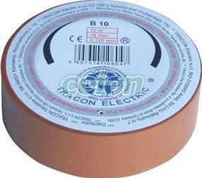 Bandă izolatoare,  maro - 10mx18mm, PVC, 0-90°C, 40kV/mm B10 - Tracon, Materiale si Echipamente Electrice, Elemente de conexiune si auxiliare, Benzi izolatoare, Tracon Electric