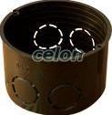 Doză de aparataj simplă, fără capac, ST, neagră - 62x40mm, IP44 D60 - Tracon, Materiale si Echipamente Electrice, Doze electrice, Doze ingropate, Tracon Electric