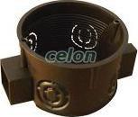 Doză de aparataj, simplă ,înseriabilă, ST, neagră - 64x15x40mm, IP44 D60S - Tracon, Materiale si Echipamente Electrice, Doze electrice, Doze ingropate, Tracon Electric