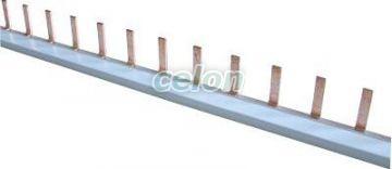 Şină de legătură cu pini - max.100A, 1P, 1m TFSS100-1 - Tracon, Materiale si Echipamente Electrice, Elemente de conexiune si auxiliare, Şine de legătură, Tracon Electric