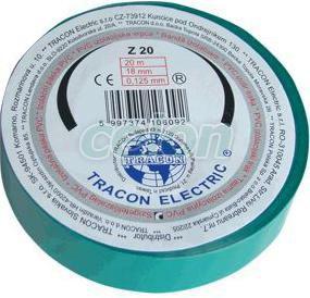 Bandă izolatoare,  verde - 20mx18mm, PVC, 0-90°C, 40kV/mm Z20 - Tracon, Materiale si Echipamente Electrice, Elemente de conexiune si auxiliare, Benzi izolatoare, Tracon Electric