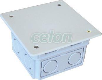 Doză perforată pătrată, ST, neagră - 76(97)x51.5mm, IP44 D80X80 - Tracon, Materiale si Echipamente Electrice, Doze electrice, Doze ingropate, Tracon Electric