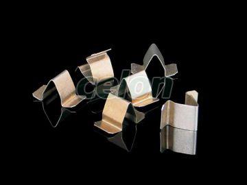 Horganyzott csavar nélküli fedélrögzitő Kopos fém kábeltálcához, Energiaelosztás és szerelés, Fém és műanyag kábelcsatornák, Fém kábelcsatornák és tartozékaik, Kopos