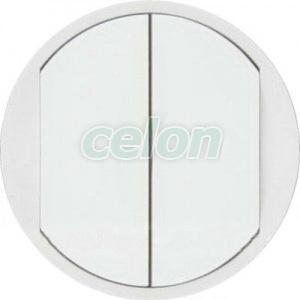 CELIANE Clapeta intrerupator dublu IP20 Alb 68002 - Legrand, Prize - Intrerupatoare, Gama Celiane - Legrand, Clapete Celiane, Legrand