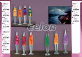 Lávalámpa h34,5cm ezüst alap- sárga folyadék -piros wax Lollipop 4102 Rábalux, Világítástechnika, Beltéri dekor világítás, Gyerekszobai és dekor lámpák, Rabalux