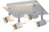 Mennyezeti lámpa Ledes AGATA 4x5W 6760   - Rabalux, Világítástechnika, Beltéri világítás, Fali és mennyezeti spot lámpák, Rabalux