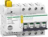 ACTI9 Reflex iC60N beépített megszakító vezérlés, 4P, C, 10A A9C62410 - Schneider Electric, Moduláris készülékek, Reflex kioldórendszeres kismegszakítók, Schneider Electric