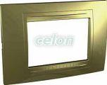 UNICA ALLEGRO Rama 3 modul Orizontala IP20 Auriu MGU4.103.64 - Schneider Electric, Prize - Intrerupatoare, Gama Unica - Schneider Electric, Rame colorate pentru Aparataj Unica - pentru doza patrata