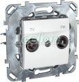 Priza Tv/Fm Terminala MGU50.452.18Z - Schneider Electric, Prize - Intrerupatoare, Gama Unica - Schneider Electric, Aparataj Unica  - Alb, Schneider Electric