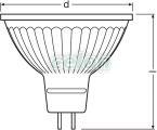 Bec Led PARATHOM MR16 2.90W GU5.3 Alb Cald 4052899957749 - Osram, Surse de Lumina, Lampi si tuburi cu LED, Becuri LED GU5.3, G5.3, Osram