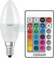 LED gyertya izzó LED RETROFIT RGBW LAMPS WITH REMOTE CONTROL 5.50W 470lm E14 Nem Szabályozható 2700k Meleg Fehér Osram, Fényforrások, LED fényforrások és fénycsövek, LED Gyertya izzók, Osram