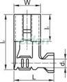 """Mufă glisantă neiz.,cupru electrolitic stanat, pin de fixare - 6,3x0,8mm, 1-2,5mm2, 90° CSH09B - Tracon, Materiale si Echipamente Electrice, Elemente de conexiune si auxiliare, Fise si mufe glisante izolate si neizolate, Fişe şi mufe glisante neizolate, Fişe glisante tip """"mamă"""", Tracon Electric"""