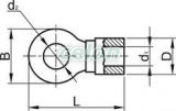Papuc inelar izolat, cupru electrolitic stanat, roşu - 35mm2, M8, (d1=9,7mm, d2=8,4mm), PA PSZ35-8 - Tracon, Materiale si Echipamente Electrice, Elemente de conexiune si auxiliare, Papuci si mufe izolate si neizolate, Papuci şi mufe izolate, Papuci inelari izolaţi, Tracon Electric