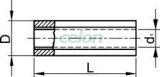 Mufă izolată,  cupru electrolitic stanat, roşu - 1,5mm2, (L=25mm, d1=2mm), PVC PTH - Tracon, Materiale si Echipamente Electrice, Elemente de conexiune si auxiliare, Papuci si mufe izolate si neizolate, Papuci şi mufe izolate, Mufe izolate, Tracon Electric