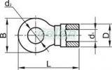 Papuc inelar izolat, cupru electrolitic stanat, galben - 6mm2, M12, (d1=3,4mm, d2=13mm), PA SSZ12 - Tracon, Materiale si Echipamente Electrice, Elemente de conexiune si auxiliare, Papuci si mufe izolate si neizolate, Papuci şi mufe izolate, Papuci inelari izolaţi, Tracon Electric