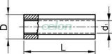 Mufă izolată,  cupru electrolitic stanat, galben - 6mm2, (L=27mm, d1=3,9mm), PVC STH - Tracon, Materiale si Echipamente Electrice, Elemente de conexiune si auxiliare, Papuci si mufe izolate si neizolate, Papuci şi mufe izolate, Mufe izolate, Tracon Electric