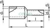 Tub de capăt dublu, izolat (PA6.6),cupru el. stanat, gri - 2x0,75mm2, L=10mm E50IH - Tracon, Materiale si Echipamente Electrice, Elemente de conexiune si auxiliare, Tuburi de capăt, Tuburi de capăt (cap terminal) duble, Tracon Electric