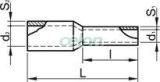 Tub de capăt izolat (PA6.6),Cu electrolitic stanat, negru - 6mm2, L=26mm E123 - Tracon, Materiale si Echipamente Electrice, Elemente de conexiune si auxiliare, Tuburi de capăt, Tuburi de capăt (cap terminal) izolate, Tracon Electric