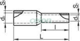 Tub de capăt izolat (PA6.6),Cu electrolitic stanat, maro - 25mm2, L=29mm E128 - Tracon, Materiale si Echipamente Electrice, Elemente de conexiune si auxiliare, Tuburi de capăt, Tuburi de capăt (cap terminal) izolate, Tracon Electric