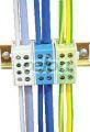 Clemă derivaţie, fixare pe şină, albastru - 2x16mm2 / 2x16mm2, 500V, 76A FLE-16K - Tracon, Materiale si Echipamente Electrice, Elemente de conexiune si auxiliare, Conexiuni, cleme şir, Clemă şir derivaţie (distribuţie), Tracon Electric
