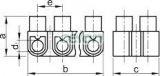 Cleme şir flexibile, profil U, 12 poli, natur - 2,5mm2, 450V, 16A, PE S3A-U - Tracon, Materiale si Echipamente Electrice, Elemente de conexiune si auxiliare, Conexiuni, cleme şir, Cleme şir flexibile si bachelita, Tracon Electric