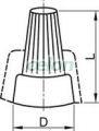 Clemă de legătură  pentru conductor rigid de cupru - 1-4mm2, 450V, max. 25A TFM3 - Tracon, Materiale si Echipamente Electrice, Elemente de conexiune si auxiliare, Conexiuni, cleme şir, Conexiuni prin torsiune, Tracon Electric