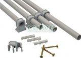 Clemă de fixare cablu şi tub, înseriabilă, gri - d=19-26mm, PA6.6 BCSV-4 - Tracon, Materiale si Echipamente Electrice, Elemente de conexiune si auxiliare, Elemente de Fixare, Elemente de fixare cabluri şi ţevi, Cleme de fixat tuburi şi conductori, Tracon Electric