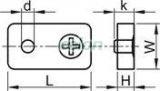 Clemă de strângere cablu, acelmax, oţel - d=6mm (1/4coll), M6 AMAX6 - Tracon, Materiale si Echipamente Electrice, Elemente de conexiune si auxiliare, Elemente de Fixare, Cleme şi întinzătoare metalice, Clemă cablu Acelmax, Tracon Electric