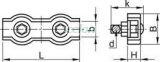 Clemă de strângere cablu, dublă, oţel - d=5mm, M5 BSZ2-5 - Tracon, Materiale si Echipamente Electrice, Elemente de conexiune si auxiliare, Elemente de Fixare, Cleme şi întinzătoare metalice, Cleme duble de fixat cabluri, Tracon Electric