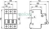 Siguranţă automată, 3 poli, curba caracteristică B - 40A, 6kA B60-40-3 - Tracon, Aparataje modulare, Sigurante automate, Sigurante tripolare 3P, Tracon Electric